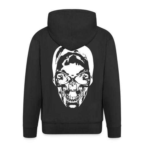 Biker Skull - Männer Premium Kapuzenjacke