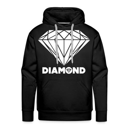 Sweat a Capuche Noir DIAMOND#  - Sweat-shirt à capuche Premium pour hommes