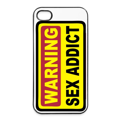 Warning sex addict - Coque rigide iPhone 4/4s