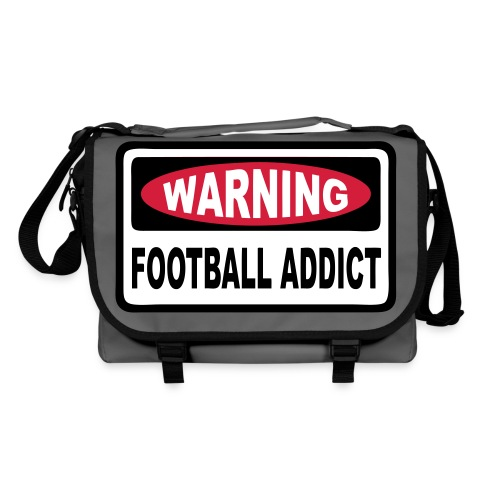 warning football addict - Shoulder Bag