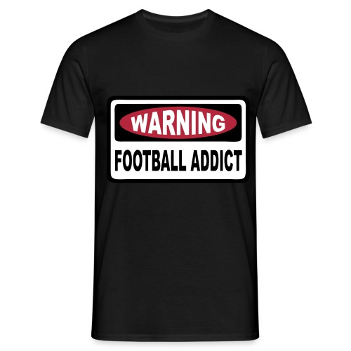 warning football addict - Men's T-Shirt