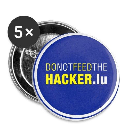 Do not feed the Hacker! (Blue L) - Buttons large 2.2''/56 mm(5-pack)
