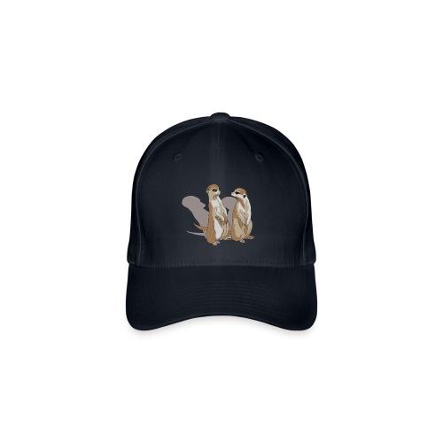 zwei Erdmännchen mit Schatten - Flexfit Baseballkappe