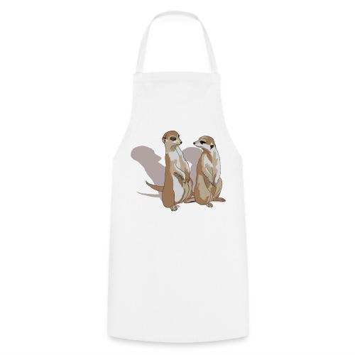 zwei Erdmännchen mit Schatten - Kochschürze