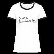 T-Shirts ~ Frauen Kontrast-T-Shirt ~ Unschuldsvermutung Girlie-Shirt