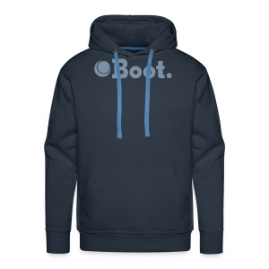 Blue with matte silver logo - Click to choose colour - Men's Premium Hoodie