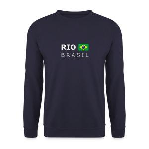 Men's Pullover RIO BRASIL white-lettered - Men's Sweatshirt