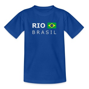 Teenager T-Shirt RIO BRASIL white-lettered - Teenage T-shirt