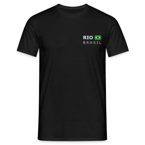 Classic T-Shirt RIO BRASIL white-lettered - Men's T-Shirt
