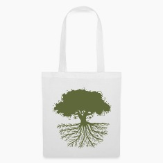 tree roots green Bags