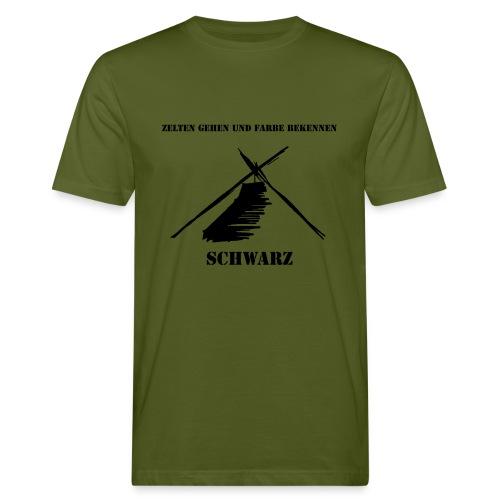 Zelten gehen und Farbe bekennen - Männer Bio-T-Shirt