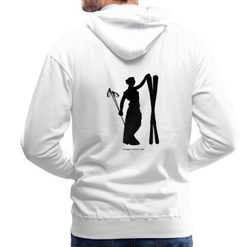La justice au ski Sweat-shirts - Sweat-shirt à capuche Premium pour hommes