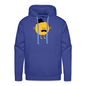 Funny Orange with Mustache Puserot - Männer Premium Hoodie