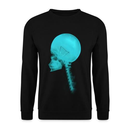 sudadera luminance  blue skull - Sudadera hombre