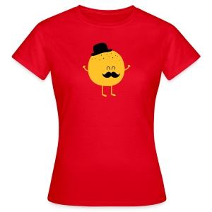 Funny Orange with Mustache T-paidat - Frauen T-Shirt