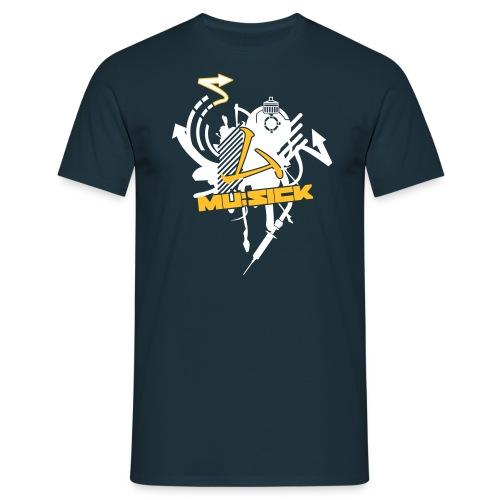 mu:sick splat - Männer T-Shirt