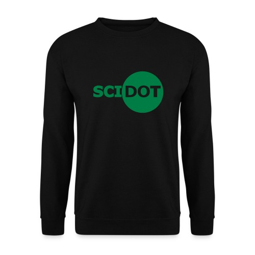 Sweat-Shirt Noir Scidot Logo Vert - Sweat-shirt Homme
