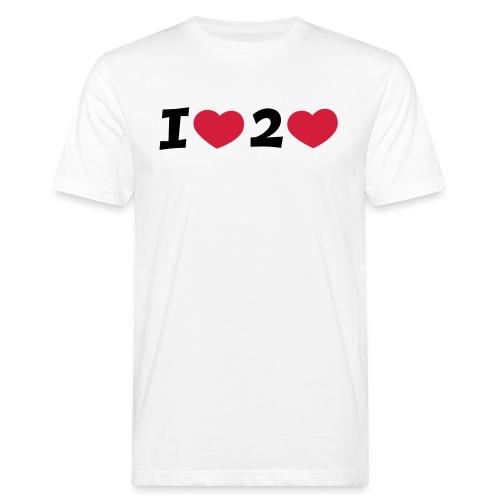 I LOVE TO LOVE T-Shirt - Männer Bio-T-Shirt