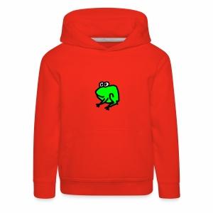 Kinder Frosch Kapuzenshirt - Kinder Premium Hoodie