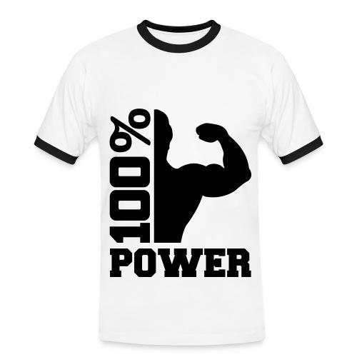 100% Power Shirt - Mannen contrastshirt