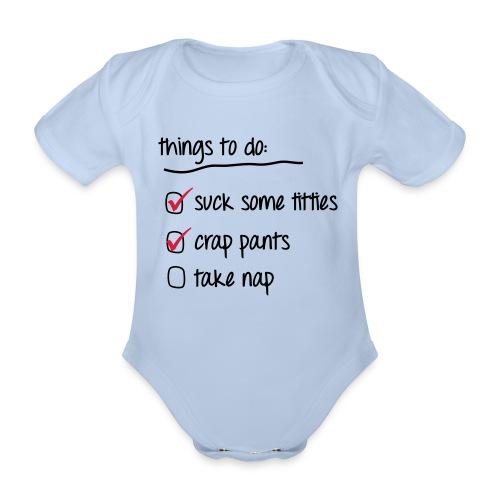 Babydragt - Kortærmet babybody, økologisk bomuld