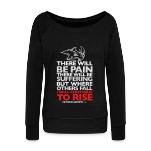 There will be pain | CutAndJacked | Womens Jumper - Women's Boat Neck Long Sleeve Top
