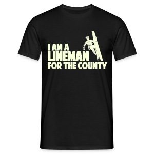 Lineman for the County - Men's T-Shirt