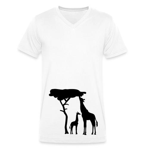 African vibe - Økologisk T-skjorte med V-hals for menn fra Stanley & Stella