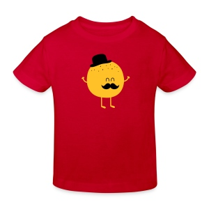 Funny Orange with Mustache Paidat - Kinder Bio-T-Shirt