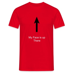 Face is up there (M) - Men's T-Shirt