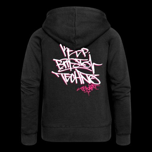 GIRLS KEEP BRISTOL TECHNO HOODIE [ltd tekart tag design] - Women's Premium Hooded Jacket