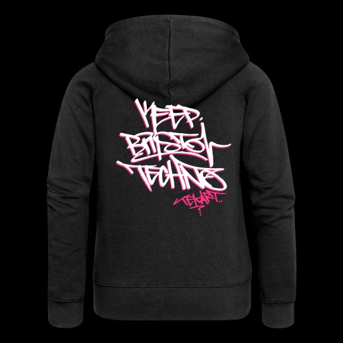GIRLS KEEP BRISTOL TECHNO HOODIE [ltd tekart tag design] - Women's Premium Hooded Jacket