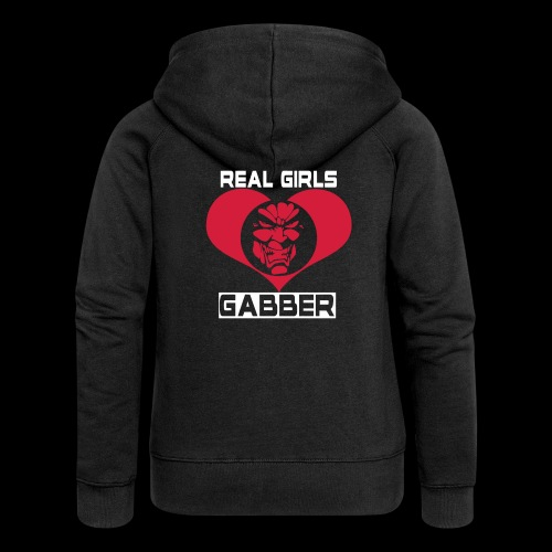 GIRLS LOVE HARDCORE HOODIE - Women's Premium Hooded Jacket