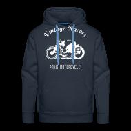 Sweat-shirts ~ Sweat-shirt à capuche Premium pour hommes ~ Classic Rider Navy Hoodie