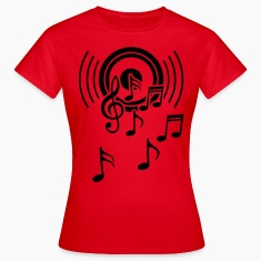 Speakers. Sheet music, music, treble clef  T-Shirts