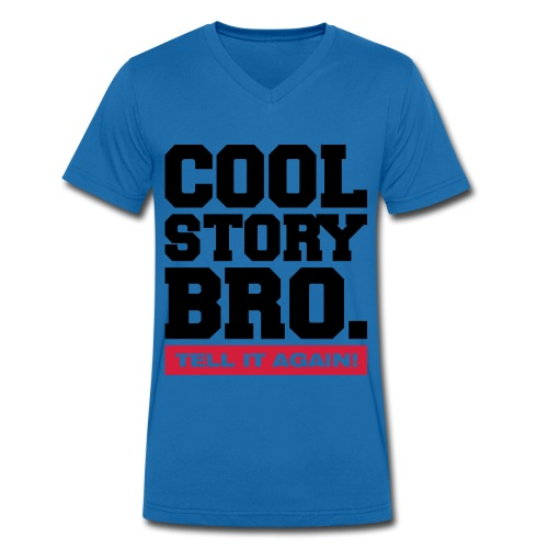 Mannen bio T-shirt met V-hals van Stanley & Stella