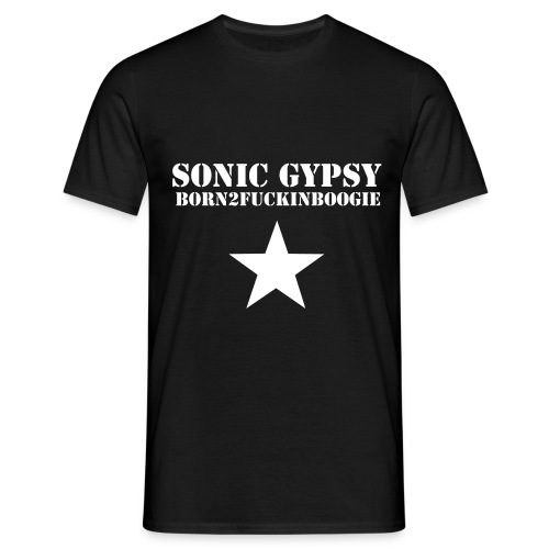 SONIC GYPSY - BORN2BOOGIE MEN'S TEE - Men's T-Shirt
