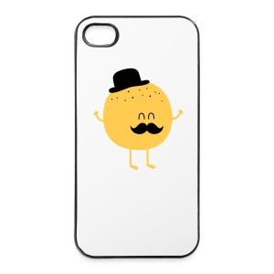 Funny Orange with Mustache Muut - iPhone 4/4s Hard Case