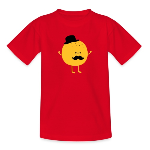 Funny Orange with Mustache Paidat - Teenager T-Shirt