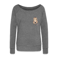 Hoodies & Sweatshirts ~ Women's Boat Neck Long Sleeve Top ~ Fashion Marzia