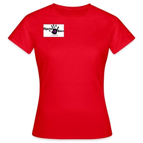 Dame t shirt Lille logo bryst - Dame-T-shirt