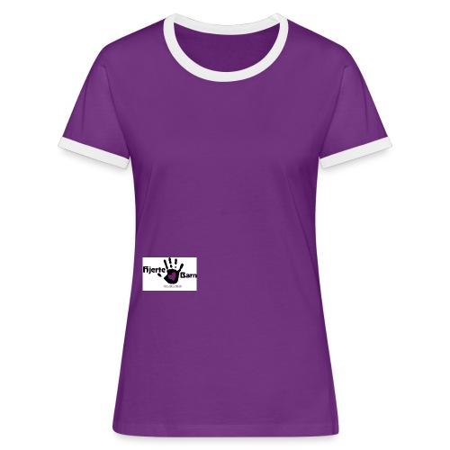 Dame shirt logo nederst kant - Dame kontrast-T-shirt