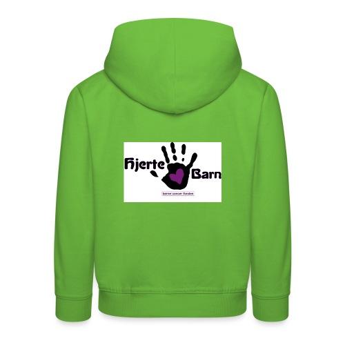 Børne hætte trøje - stort ryg logo - Premium hættetrøje til børn
