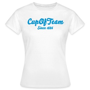 CupOfTeam Since 1886 - Lady's T-Shirt (Blue Text) - Women's T-Shirt