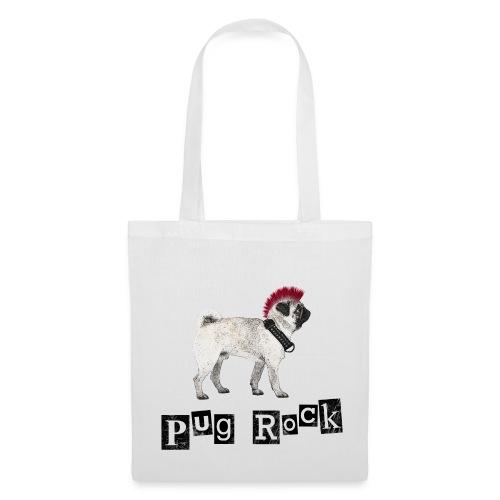 Pug Rock Stofftasche - Stoffbeutel