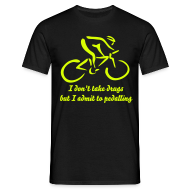 T-Shirts ~ Men's T-Shirt ~ I admit to pedalling