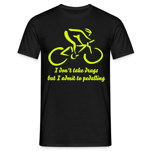 I admit to pedalling - Men's T-Shirt