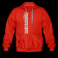Sweatshirts ~ Herre premium hættejakke ~ Namunël zip-hoodie, rød