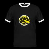 T-shirts ~ Kontrast-T-shirt herr ~ T-Shirt Svart med vit rand