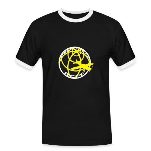 T-Shirt Svart med vit rand - Kontrast-T-shirt herr